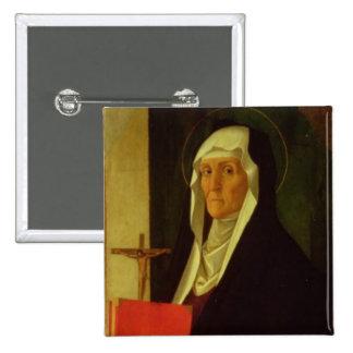 St. Clare, c.1485-90 (tempera on panel) 15 Cm Square Badge