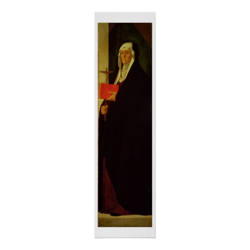 St. Clare, c.1485-90 (tempera on panel) Poster