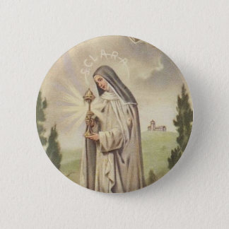 St. Clare of Assisi 6 Cm Round Badge