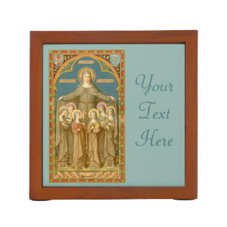 St. Clare of Assisi (front) with Nuns (back) Desk Organiser
