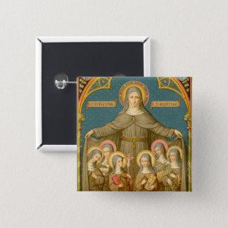 St. Clare of Assisi & Nuns (SAU 027) 15 Cm Square Badge