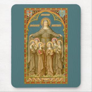 St. Clare of Assisi & Nuns (SAU 027) Mouse Pad