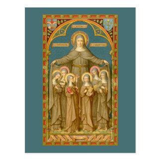 St. Clare of Assisi & Nuns (SAU 027) Postcard 4