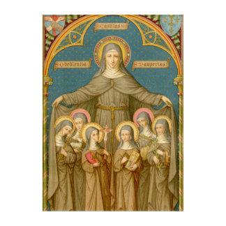 St. Clare of Assisi & Nuns (SAU 27) Acrylic Wall Art