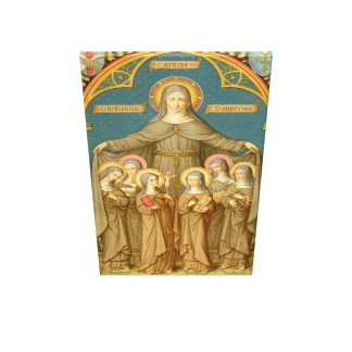 St. Clare of Assisi & Nuns (SAU 27) XLarge Canvas Print