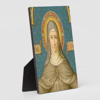 "St. Clare of Assisi (SAU 027) 5.25""x5.25"" Square Plaque"