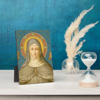 """St. Clare of Assisi (SAU 027) 5""""x7"""" Plaque"""