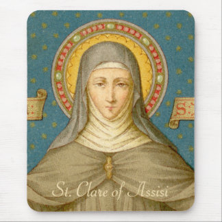 St. Clare of Assisi (SAU 027) Mouse Pad
