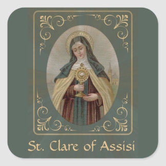 St. Clare of Assisi Square Sticker