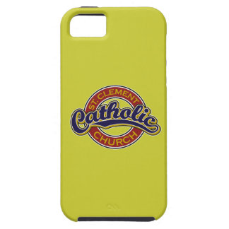 St. Clement Catholic Church Blue on Red iPhone 5 Cases