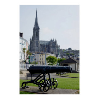 St Colman's Cathedral and canon Poster