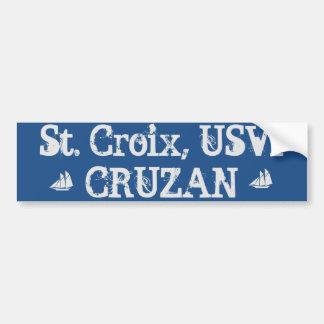 St. Croix USVI CRUZAN - Bumper Sticker
