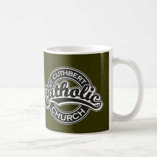 St. Cuthbert Catholic Church Black and White Coffee Mug