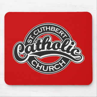 St. Cuthbert Catholic Church Black and White Mouse Pad