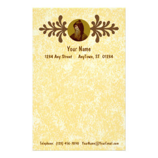 "St. Cyril the Monk (M 002) 5.5""x8.5"" Vert #1a Stationery"