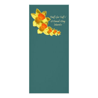 St David's Day Rack Card Template