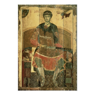St. Demetrius of Salonica, 12th century Poster
