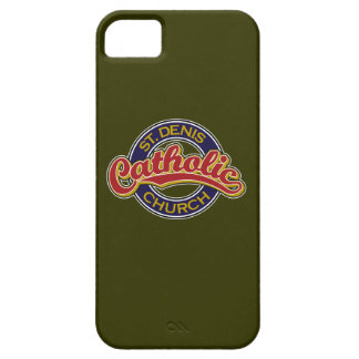 St. Denis Catholic Church Red on Blue iPhone 5 Covers