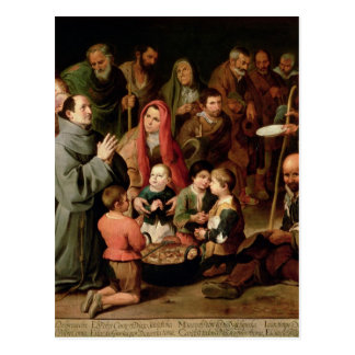 St. Diego of Alcala Giving Food to the Poor Postcard