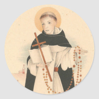 St. Dominic with the Rosary Classic Round Sticker