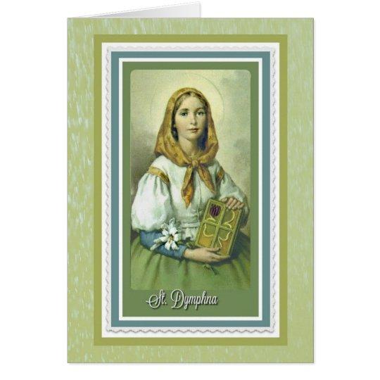 St. Dymphna Greeting Card w/prayer
