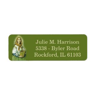 St. Dymphna Patron of Mental Health Return Address Label