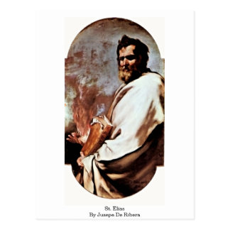 St. Elias By Jusepe De Ribera Postcard