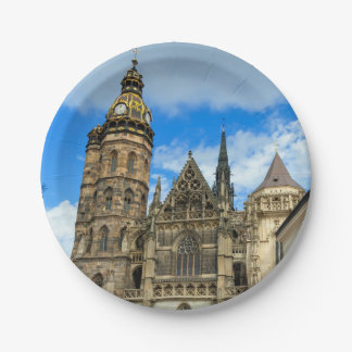 St. Elisabeth Cathedral in Kosice, Slovakia 7 Inch Paper Plate
