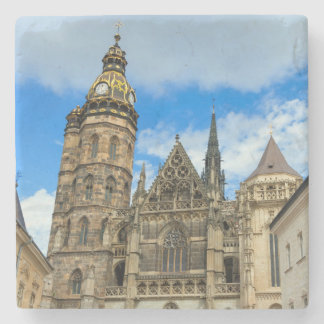 St. Elisabeth Cathedral in Kosice, Slovakia Stone Coaster