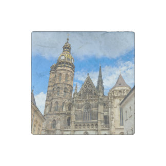 St. Elisabeth Cathedral in Kosice, Slovakia Stone Magnet