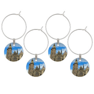 St. Elisabeth Cathedral in Kosice, Slovakia Wine Glass Charms
