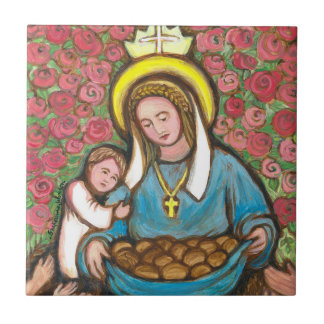 St Elizabeth of Hungary Small Square Tile