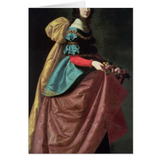 St. Elizabeth of Portugal  1640 Card