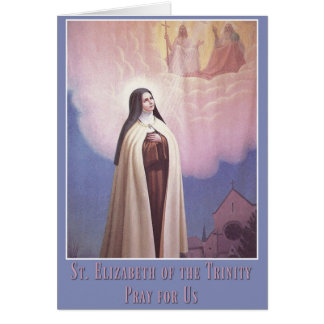 St. Elizabeth of the Trinity, Carmelite Nun Card