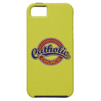 St. Elizabeth Seton Catholic Church Blue on Red iPhone 5 Covers