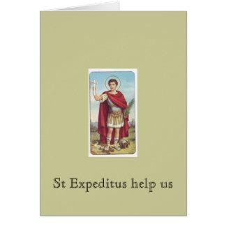 St Expeditus help us Card