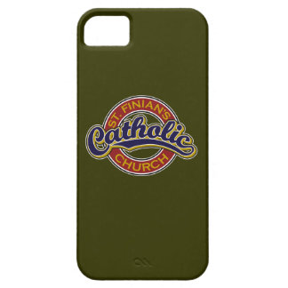 St. Finian's Catholic Church Blue on Red iPhone 5 Cover
