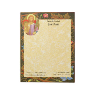 """St. Florian of Lorch (PM 03) 11""""x8.5"""" Notepad"""