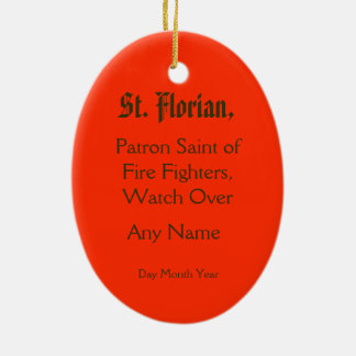 St. Florian of Lorch (PM 03) Ceramic Oval Decoration