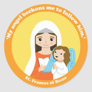 St. Frances of Rome Round Sticker