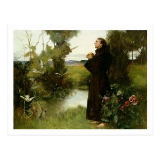 St. Francis, 1898 (oil on canvas) Postcard