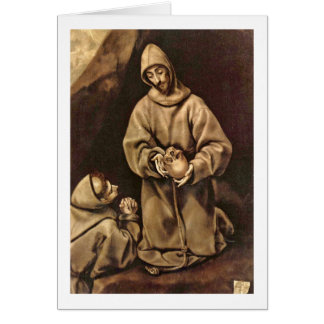 St. Francis And Brother Leo By El Greco Card