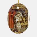 St Francis at the Nativity, mug key chain iPhone Christmas Tree Ornament