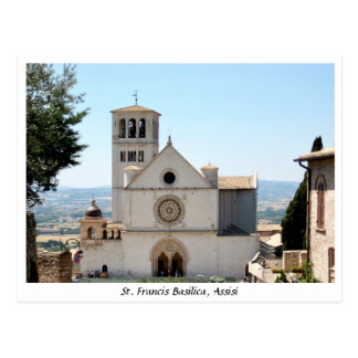 St. Francis Basilica, San Francesco Assisi Italy Postcard