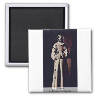 St. Francis,  By Zurbarán Francisco De Magnet