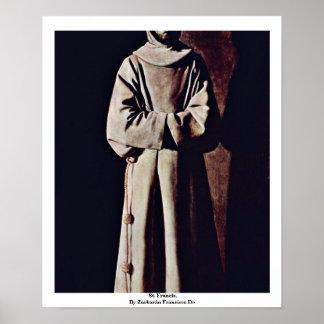 St. Francis,  By Zurbarán Francisco De Poster