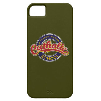 St. Francis De Sales Catholic School Red on Blue iPhone 5 Case