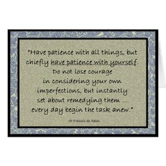 St. Francis de Sales quote inspirational card