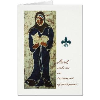 St. Francis Holding a Cat, Catholic Saint Card