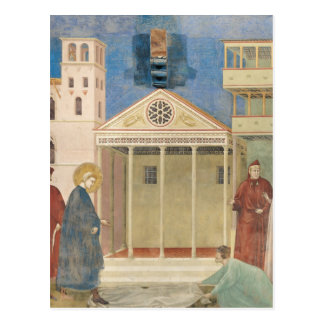 St. Francis Honoured by a Simple Man, 1297-99 Postcard